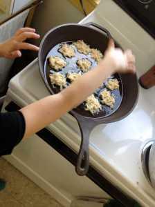 Sizzling potato pancakes