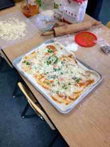 assembled pizza