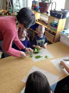 cutting peppers Valerie, Christopher