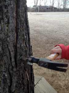 hammering in spiggot