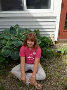 Annaleeza and the hosta