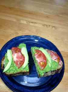 scape tomaot and avocado sanwich