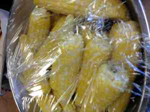 sweet corn ready for snack