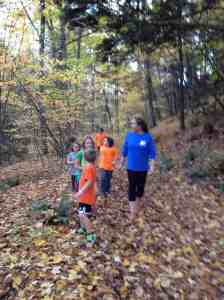 Jennie Perry chaperoning trail run