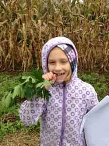 Nola crunching celery