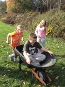 wheelbarrow ride