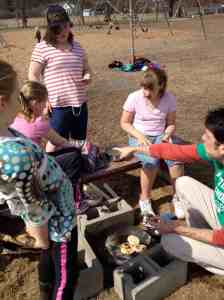 outdoor cooking- Chapatis