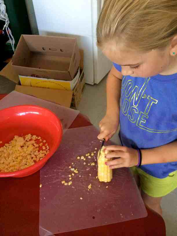 cutting kernels off cob