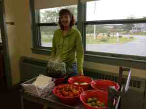 Garden produce down to the fifth grade