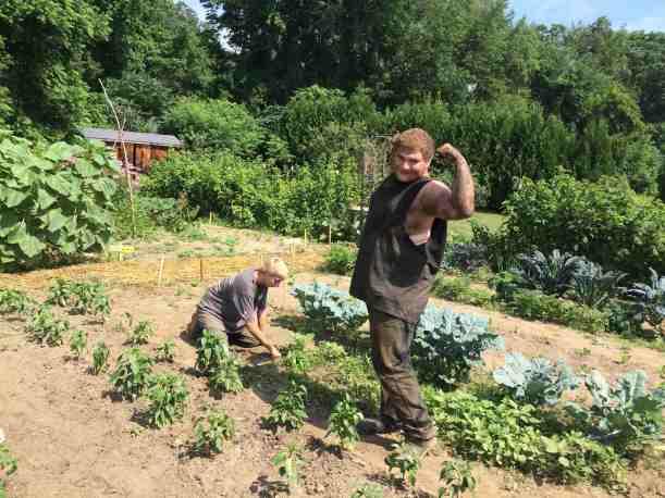 boys weeding