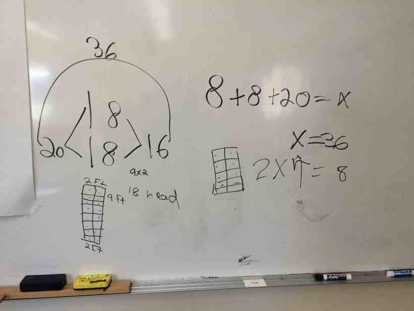 sharing math work