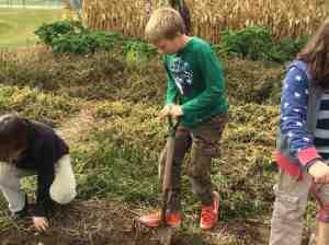using a spade