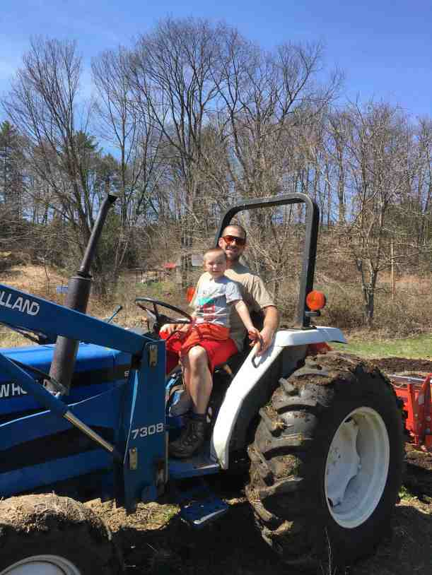 Mike on tractor